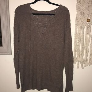 Cross neck sweater!